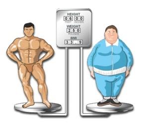 Толстяк и качок на весах